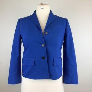 Ann Taylor Blue Three Button Blazer Size 0